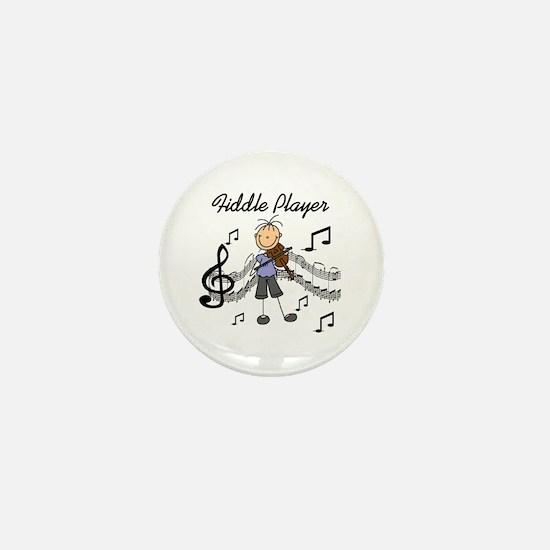 Fiddle Player Mini Button