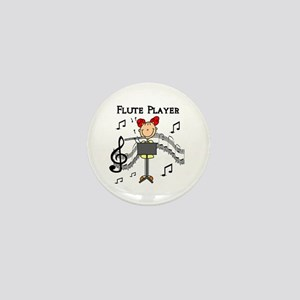 Flute Player Mini Button