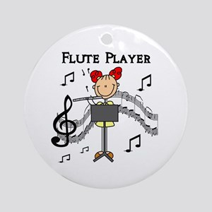 Flute Player Ornament (Round)