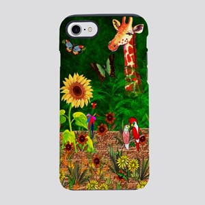 Giraffe In Garden iPhone 8/7 Tough Case
