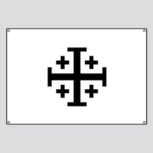 Crusaders Cross (Black) Banner