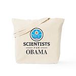 Scientists for Obama Tote Bag