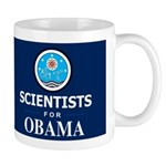Scientists for Obama Dark Mug
