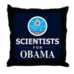 Scientists for Obama Throw Pillow