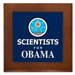 Scientists for Obama Framed Tile