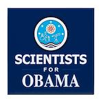 Scientists for Obama Tile Coaster