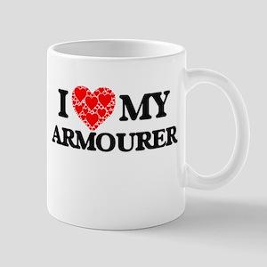 I Love my Armourer Mugs