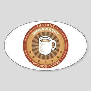 Instant Immunologist Oval Sticker