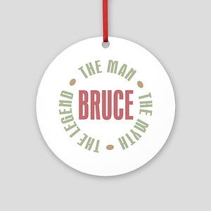 Bruce Man Myth Legend Ornament (Round)