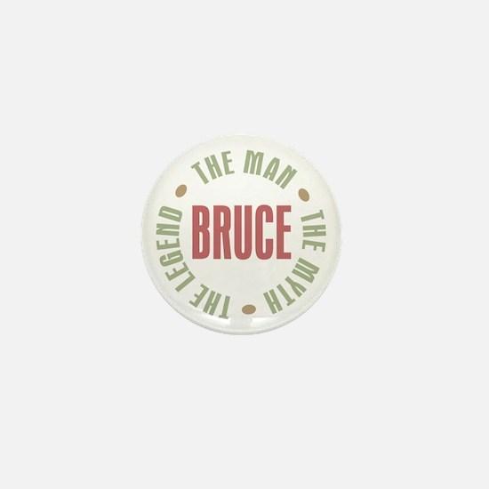 Bruce Man Myth Legend Mini Button