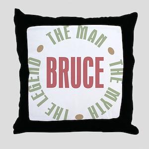 Bruce Man Myth Legend Throw Pillow