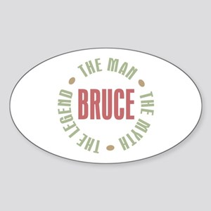 Bruce Man Myth Legend Oval Sticker
