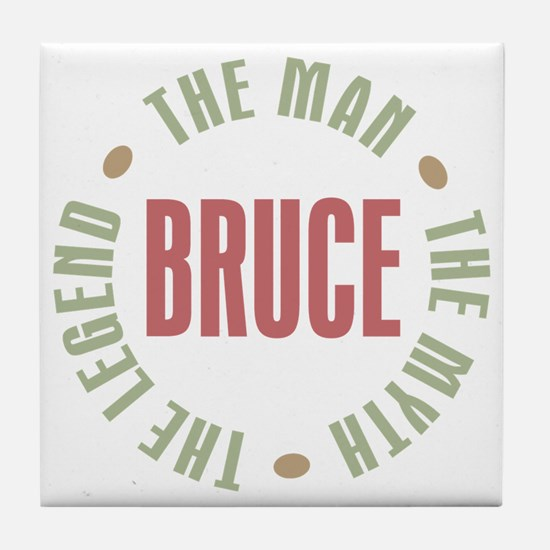 Bruce Man Myth Legend Tile Coaster