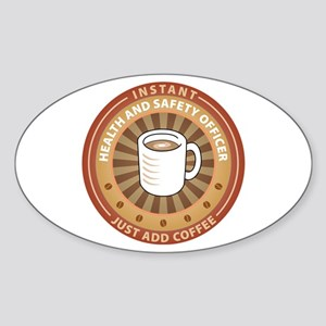 Instant Health and Safety Officer Oval Sticker