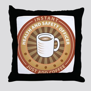 Instant Health and Safety Officer Throw Pillow