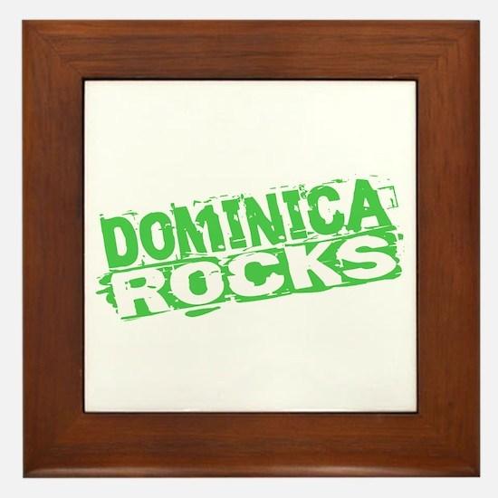 Dominica Rocks Framed Tile