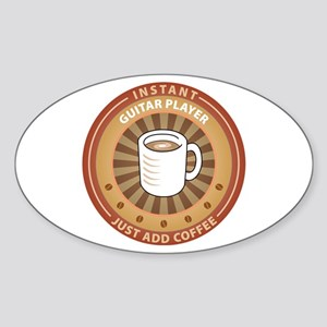 Instant Guitar Player Oval Sticker
