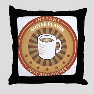 Instant Guitar Player Throw Pillow