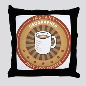 Instant Geographer Throw Pillow