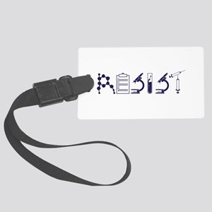 RESIST Political fiction Large Luggage Tag