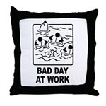 Bad Day at Work Throw Pillow