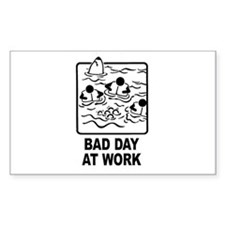 Bad Day at Work Rectangle Sticker