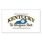 Kentucky Rectangle Sticker