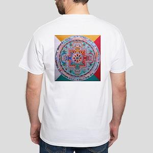 NYOF Logo / Sand Mandala White T-Shirt