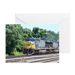 CSX Q190 Doublestack Train Greeting Cards (Package