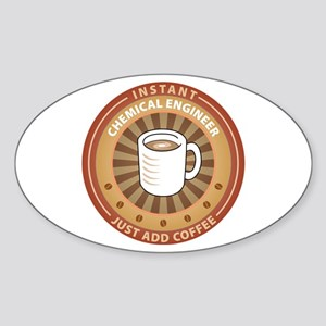 Instant Chemical Engineer Oval Sticker