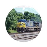 CSX Q190 Doublestack Train Keepsake (Round)
