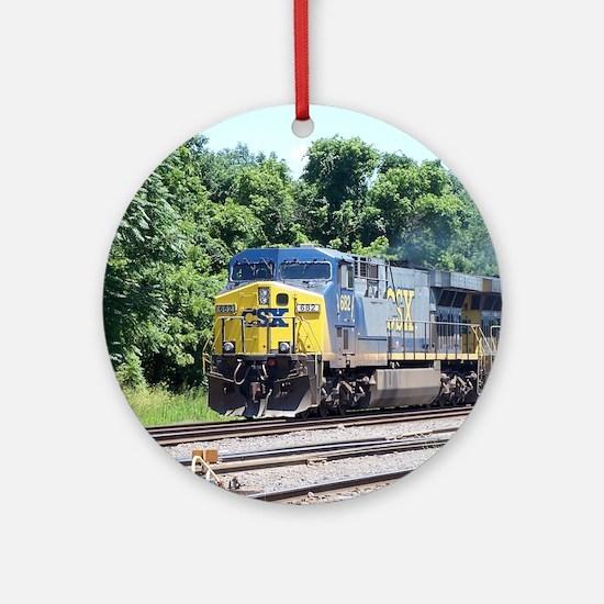CSX Q190 Doublestack Train Keepsake (Round)