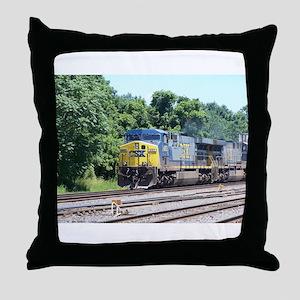 CSX Q190 Doublestack Train Throw Pillow