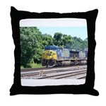 CSX Q190 Doublestack Train Throw Pillow