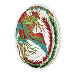 Chinese Rooster Oval Ornament