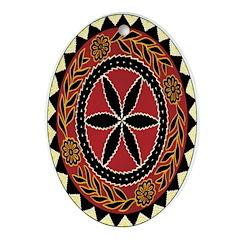 Asian Starburst Oval Ornament