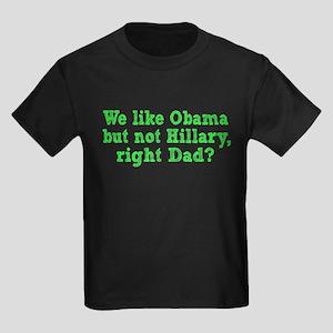 Anti Hillary Kids Dark T-Shirt