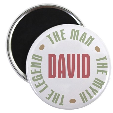 "David Man Myth Legend 2.25"" Magnet (10 pack)"