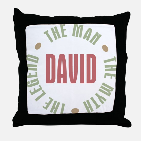 David Man Myth Legend Throw Pillow