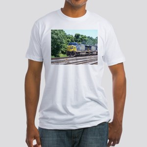 CSX Q190 Doublestack Train Fitted T-Shirt