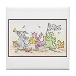 Dragon Parade Tile Coaster