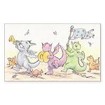 Dragon Parade Rectangle Sticker