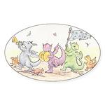 Dragon Parade Oval Sticker
