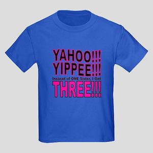 Yippee Triplets - Sisters Kids Dark T-Shirt