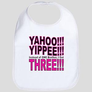 Yippee Triplets - Brothers Bib
