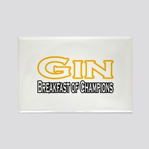 """""""Gin. Breakfast of Champions"""" Rectangle Magnet"""