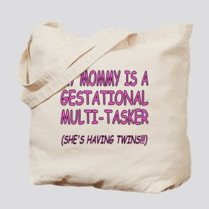My Mommy is a Gestational Multi-Tasker Red Tote Ba