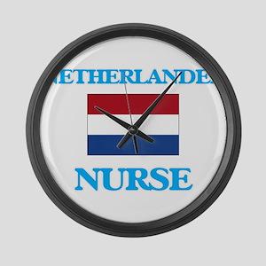 Netherlander Nurse Large Wall Clock