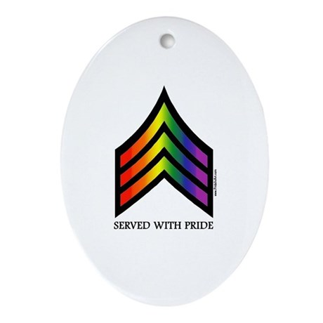 Served With Pride Keepsake (Oval)