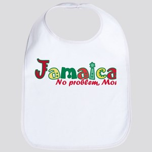 Jamaica No Problem Cotton Baby Bib